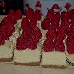 Raspberry cheesecakes